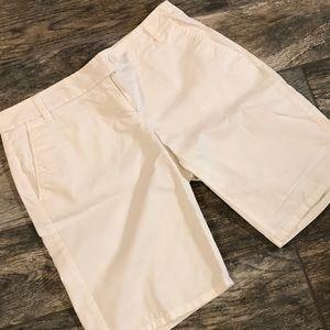 White Bermuda Stretchy Shorts